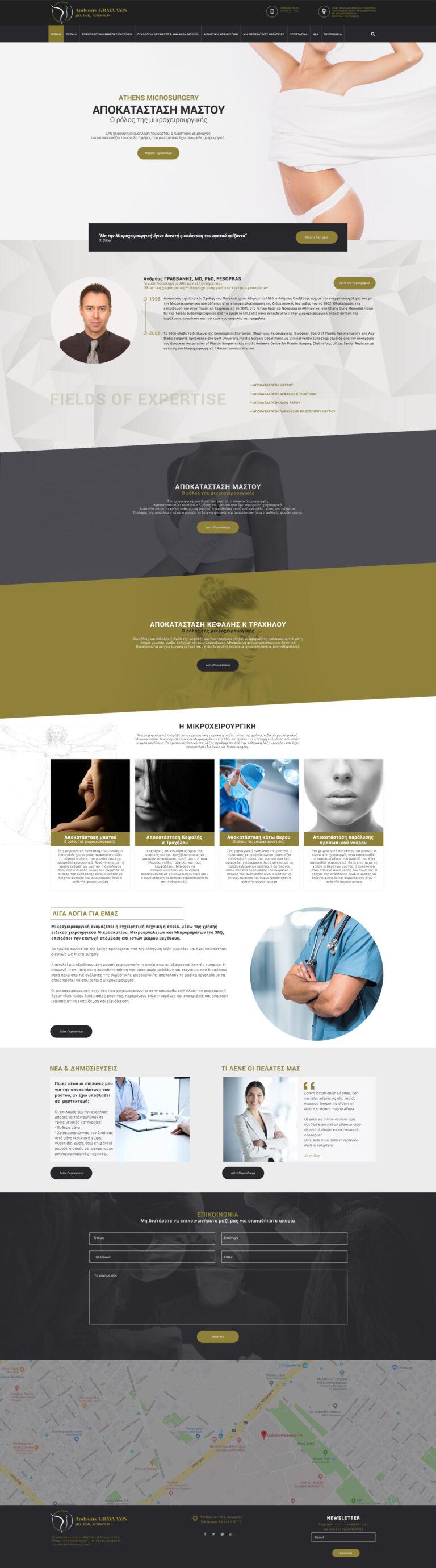 Κατασκευή ιστοσελίδας πλαστικού χειρουργού